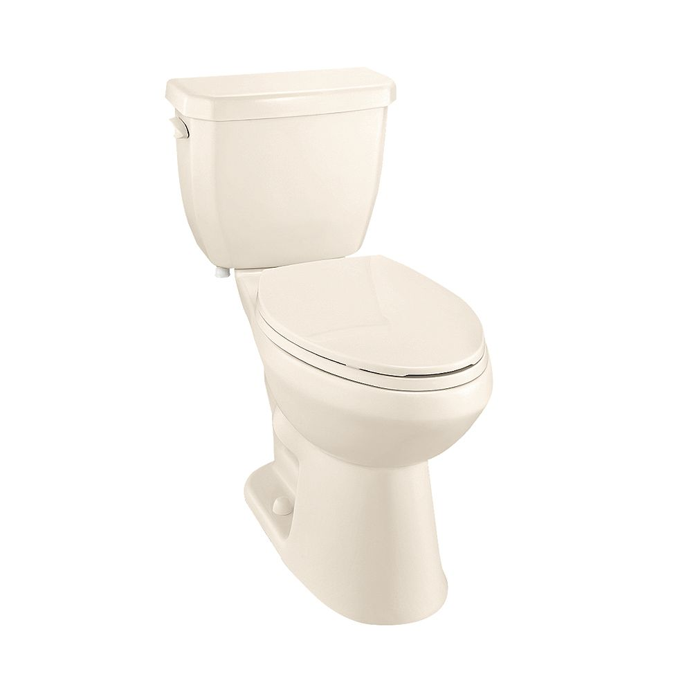Glacier Bay All-In-One 4.8 LPF Single Flush Elongated Bowl Toilet in Bone