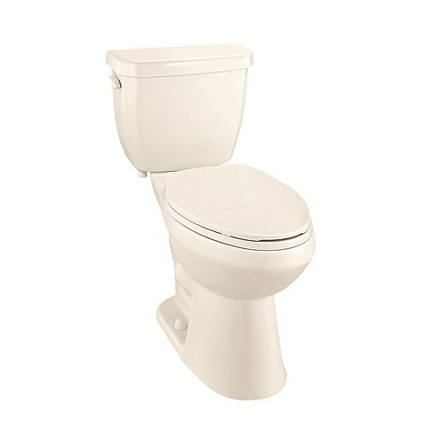All-In-One 4.8 LPF Single Flush Elongated Bowl Toilet in Bone