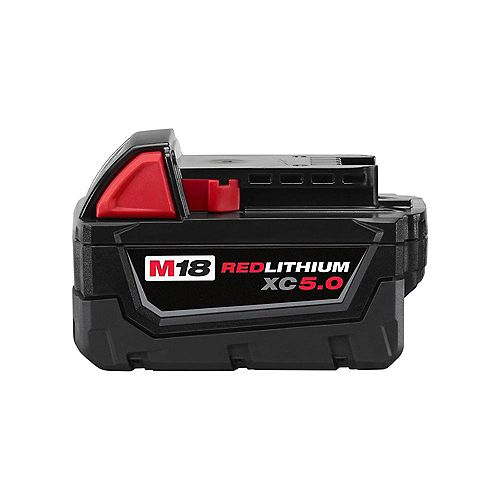 M18 18V Lithium-Ion Extended Capacity (XC) 5.0 Ah REDLITHIUM Battery Pack