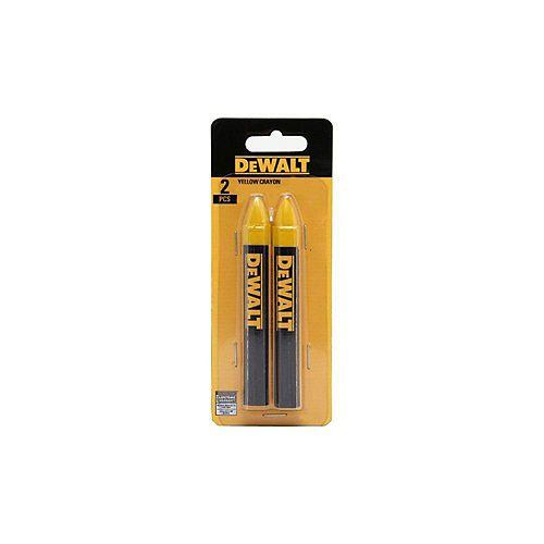 Marque de bois d'oeuvre Crayon en jaune