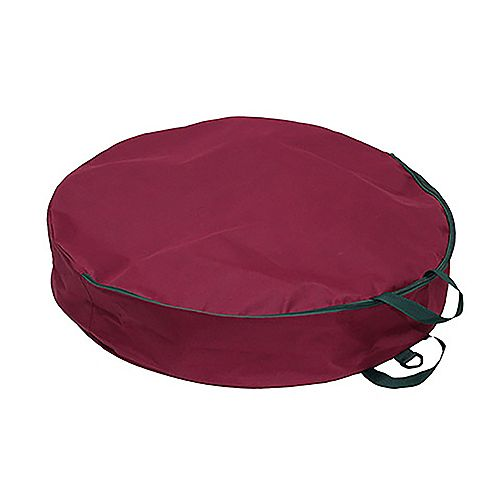 30-inch Storage Bag for Wreaths in Burgundy