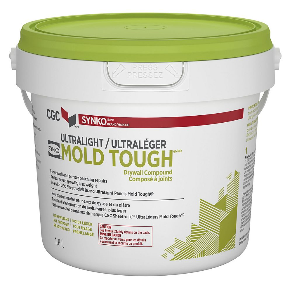 CGC Synko Composé pour cloisons sèches résistant à la moisissure, seau de 1,8 L