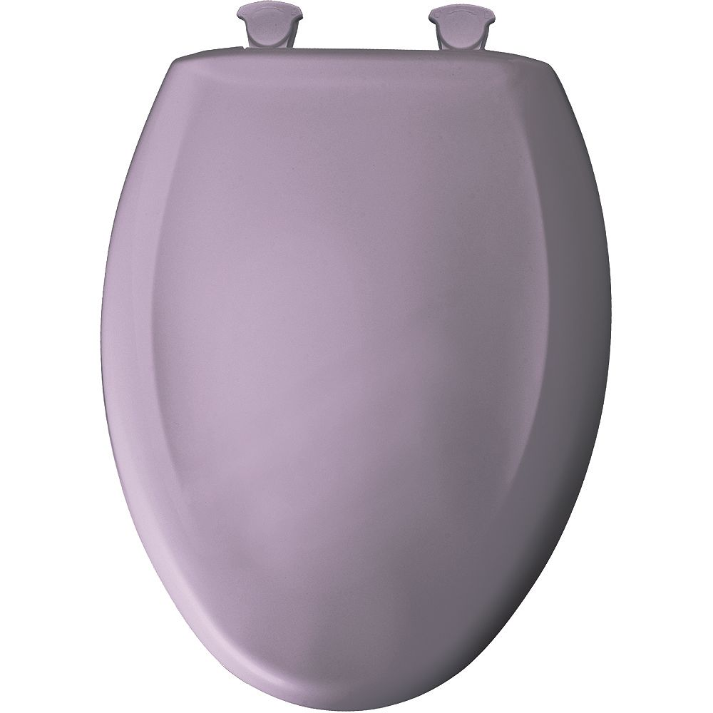 Bemis Elongated Closed Front Toilet Seat in Lilac with Easy Clean and Change Hinge