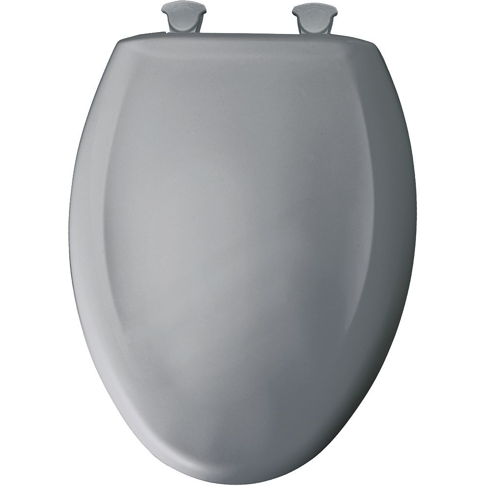 Bemis Elongated Closed Front Toilet Seat in Country Grey with Easy Clean and Change Hinge