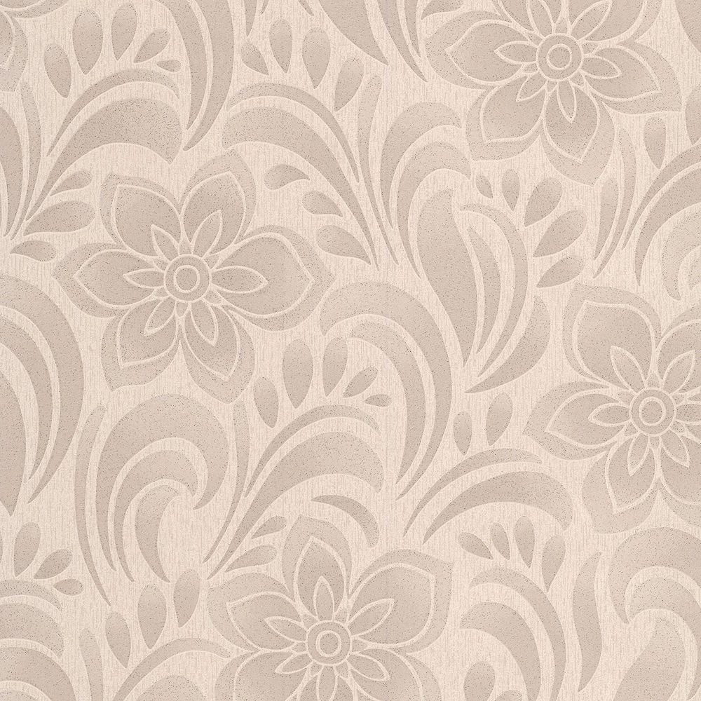 Graham & Brown Jacquard Floral Beige/Gold Wallpaper