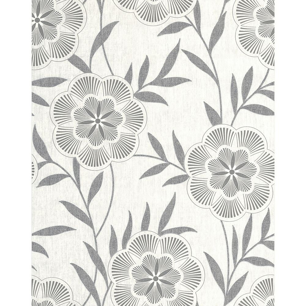 Superfresco Flora Papier Peint Gris