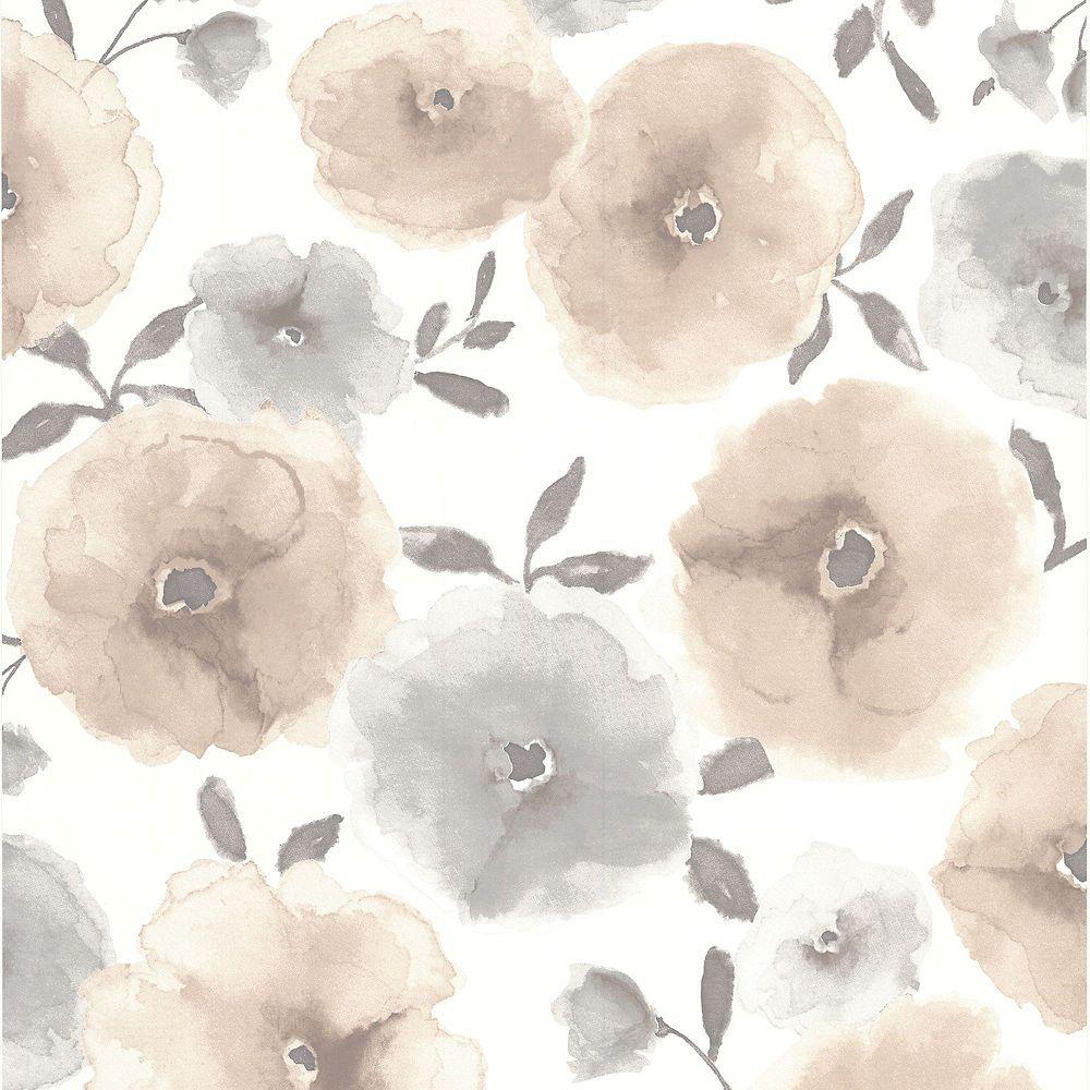 Graham & Brown Poppies Beige/Grey/Cream Wallpaper