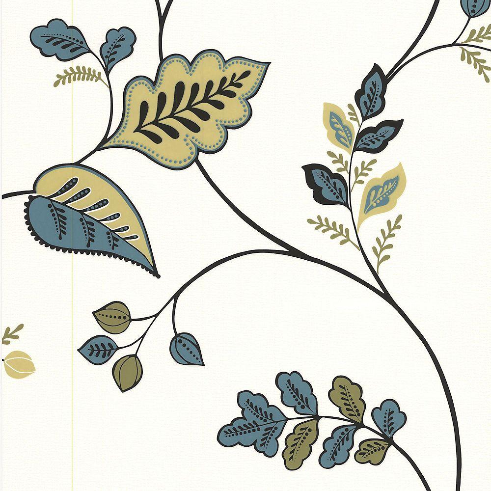 Graham & Brown Folklore Green/Teal/White Wallpaper