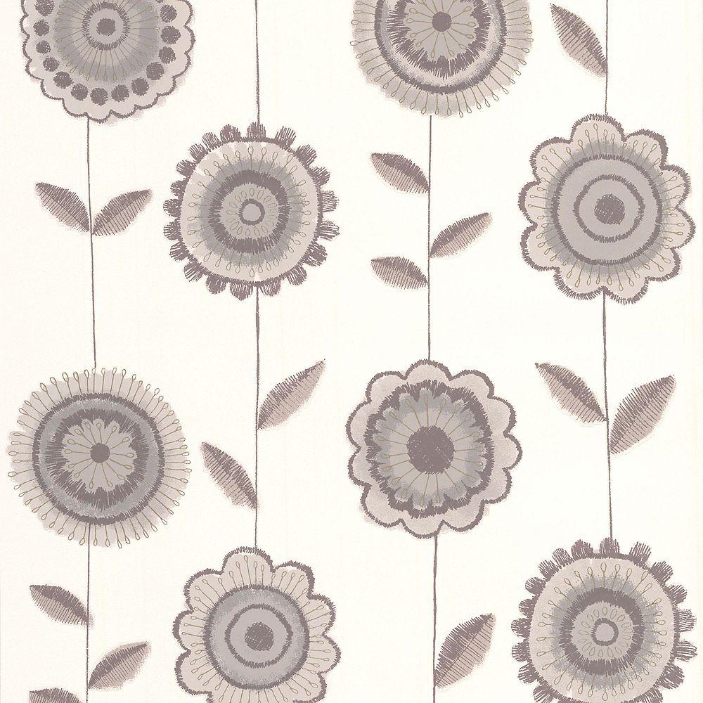 Graham & Brown Radiance Beige/Brown/White Wallpaper