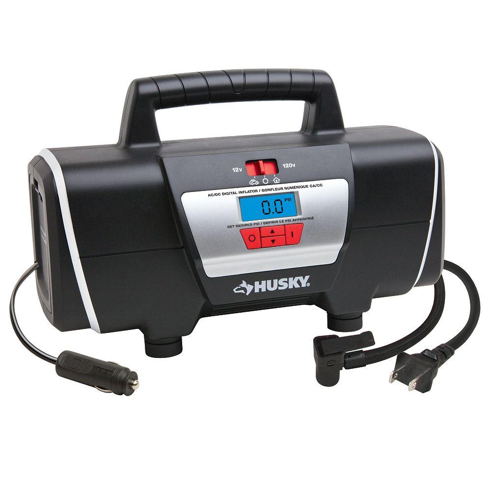 Husky 12/120 Volt Auto and Home Inflator