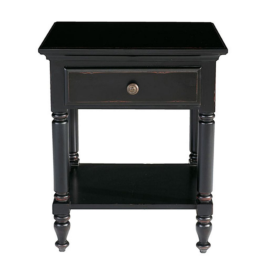 Renovations By Thomasville 1-Drawer Side Table/ Nightstand In Vintage Ebony