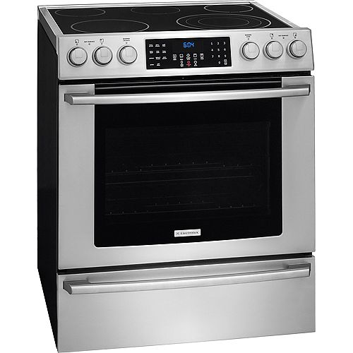 30-inch 4.6 cu. ft. Electric Front Control Freestanding in Stainless Steel