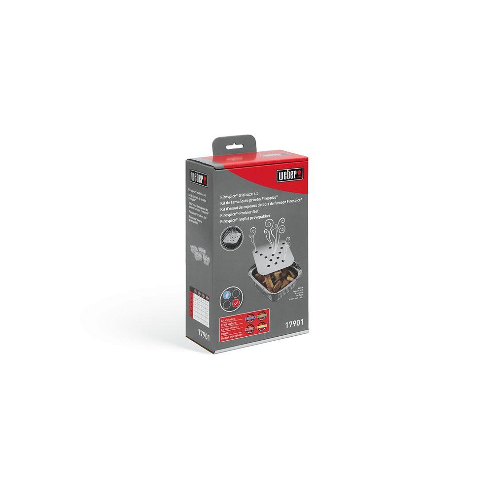 Weber 4 kits d'essai de bois de fumage - Hickory, Pomme, Cerise et Hêtre
