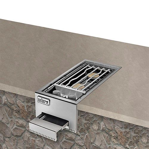 Summit Built-In Liquid Propane Stainless Steel Dual Side-Burner