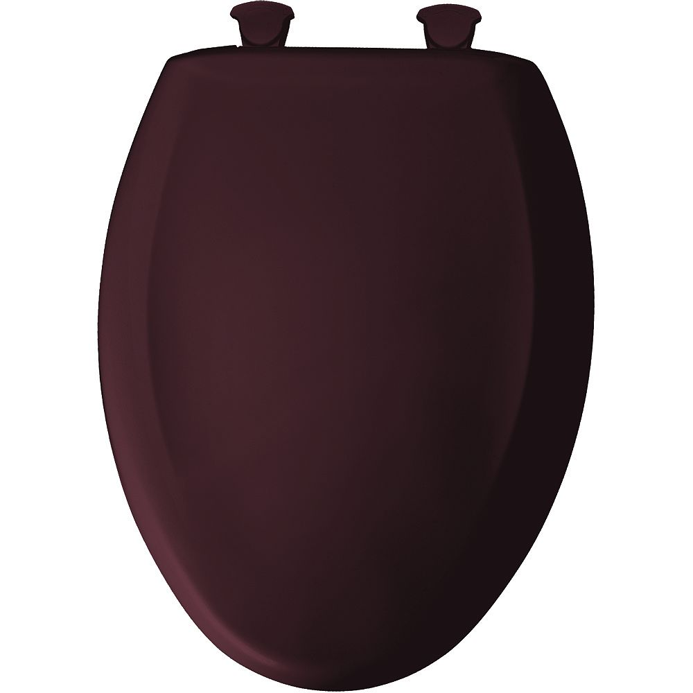 Bemis Elongated Closed Front Toilet Seat in Merlot with Easy Clean and Change Hinge