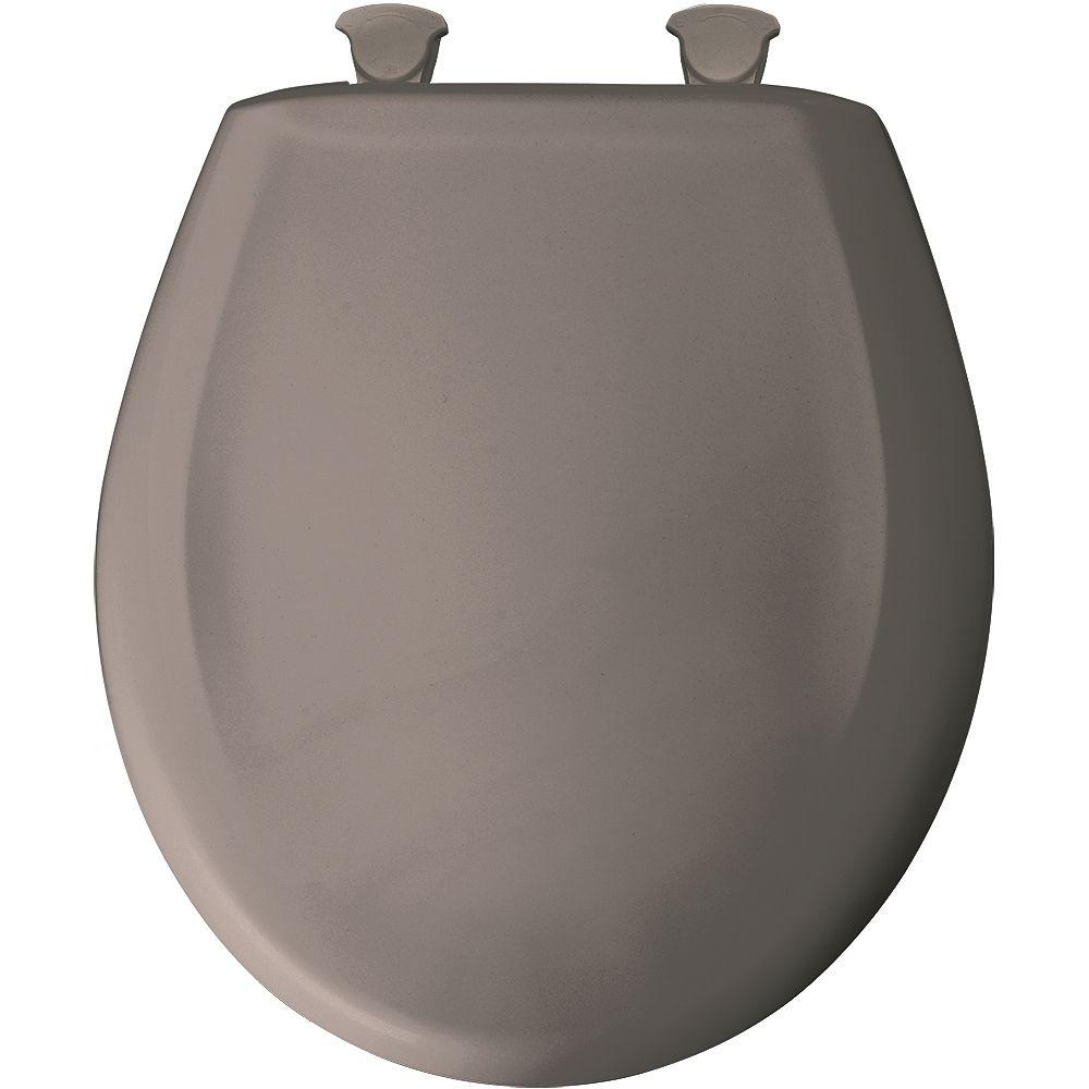 Bemis Siège de Toilette Rond en Plastique avec charnière Whisper,Close avec Easy,Clean & Change et STA-TITE - Vison classique