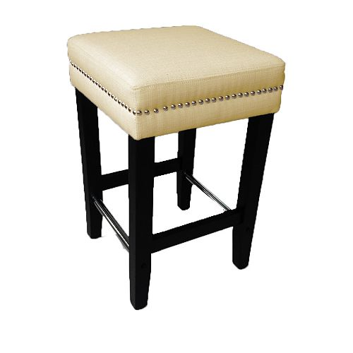 Biscuit Beige 26 Inch Counter Stool - (Set of 2)