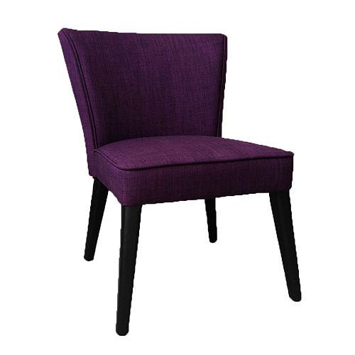 Royal Purple Faux Linen Accent Chair