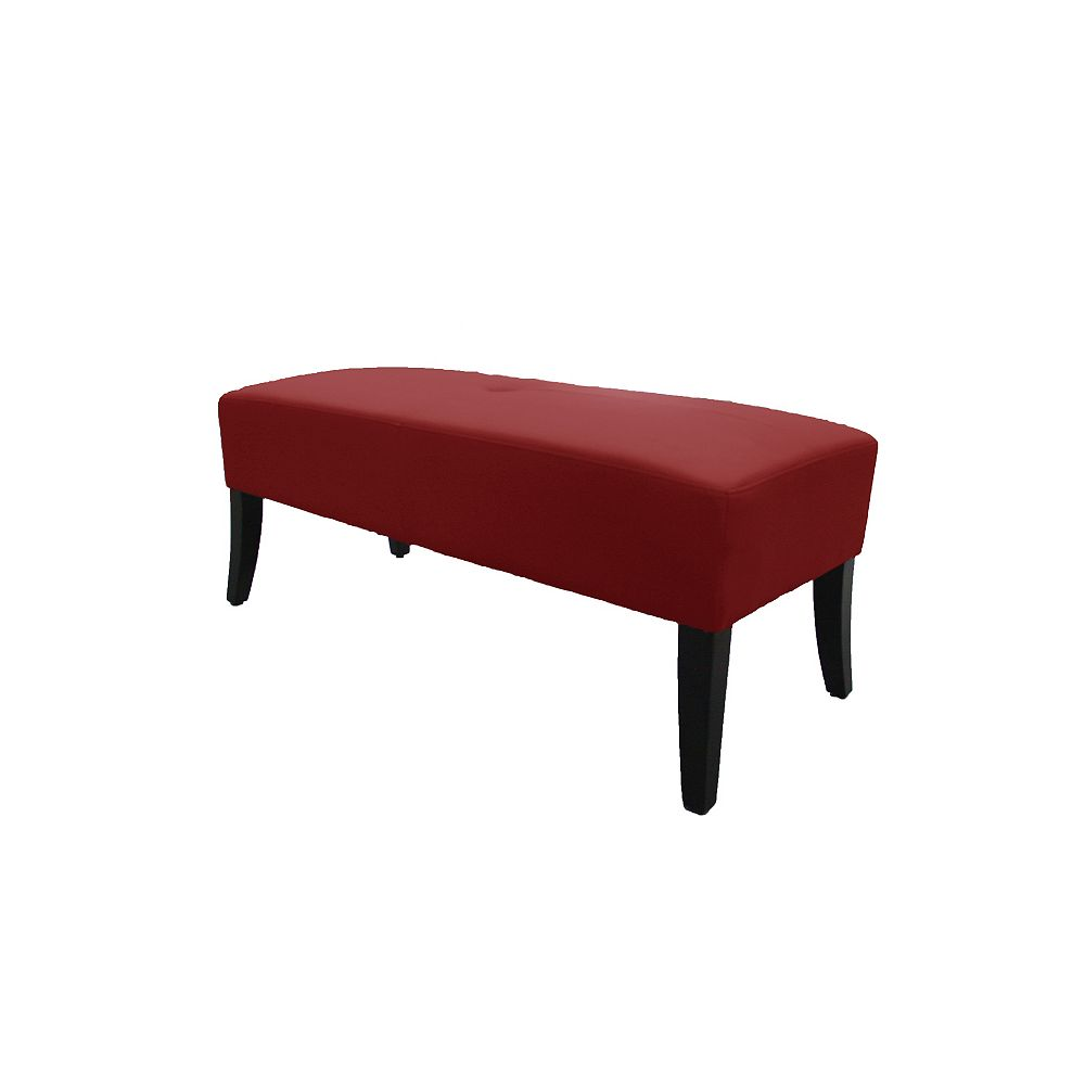 JR Home Collection 46.5-inch x 18.5-inch x 18.5-inch Solid Wood Frame Bench in Red