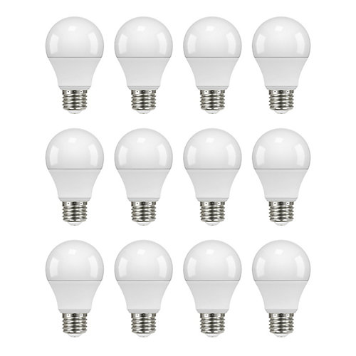 60W Equivalent Daylight (5000K) A19 Non-Dimmable LED Light Bulb (12-Pack)