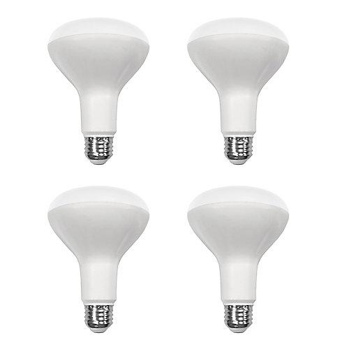 65W Equivalent Daylight (5000K) BR30 Dimmable LED Light Bulb (4-Pack) - ENERGY STAR®