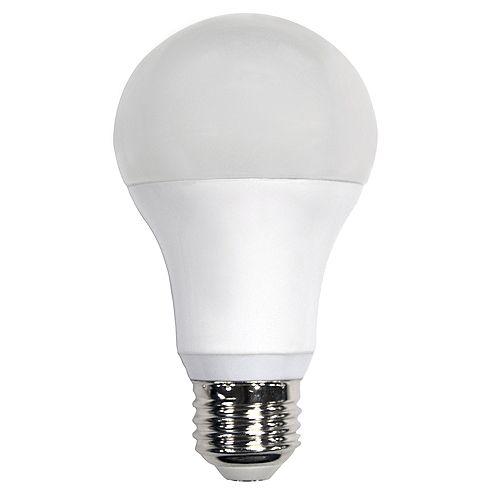 Ecosmart Ampoule à DEL A19 à intensité réglable commandée à distance, lumière naturelle (5 000K), équivalant à 60 W