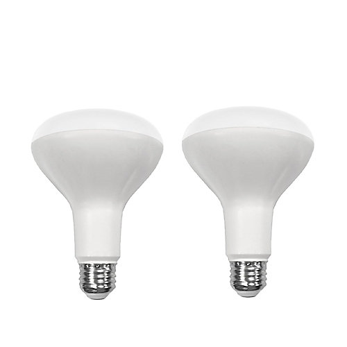 Connected 65W Equivalent Daylight (5000K) BR30 Dimmable LED Light Bulb (2-Pack)