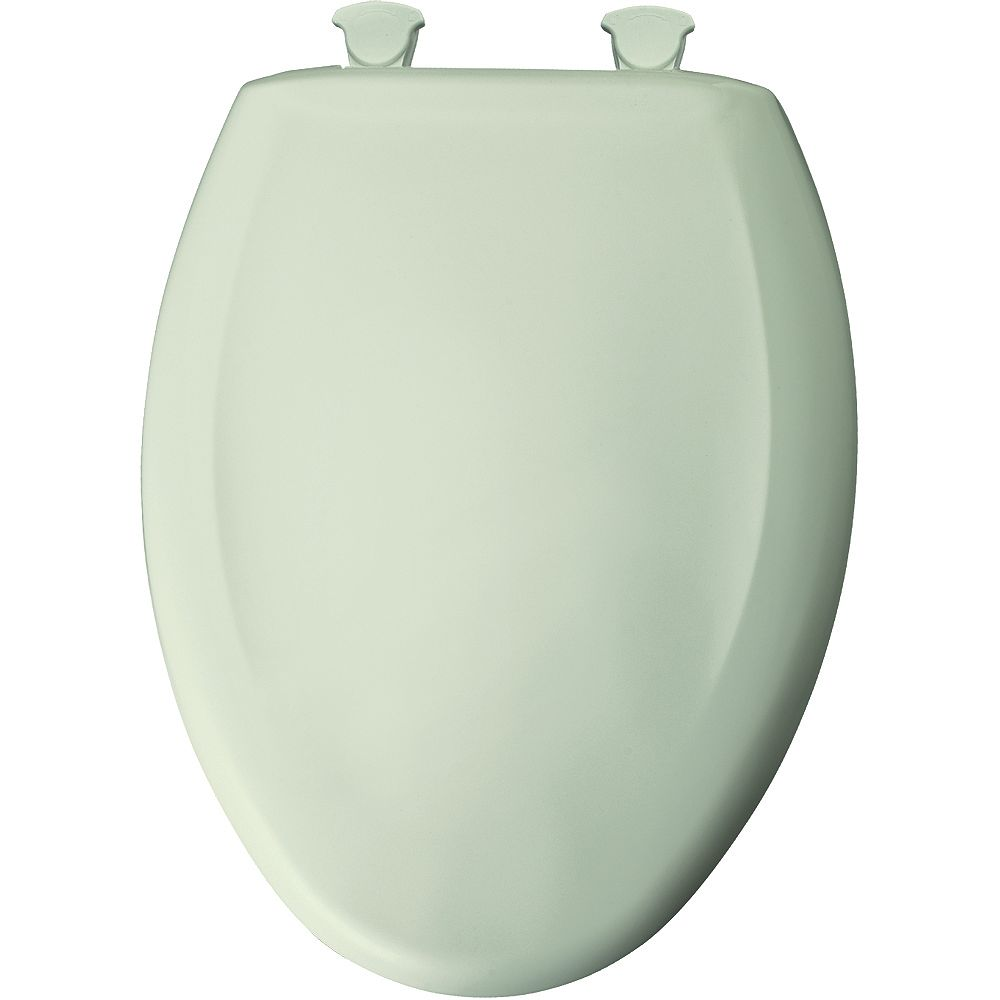 Bemis Elongated Closed Front Toilet Seat in Honeydew with Easy Clean and Change Hinge