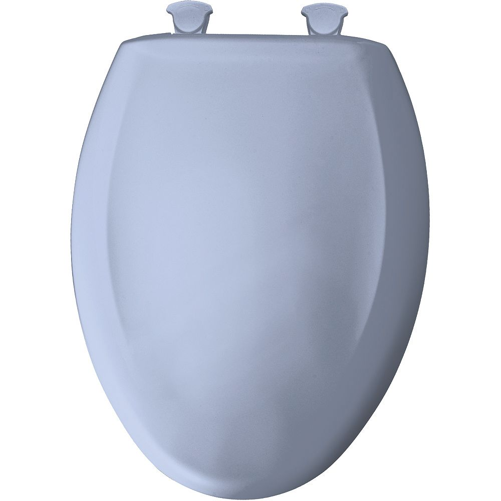 Bemis Siège de Toilette Allongé en Plastique avec charnière Whisper,Close avec Easy,Clean & Change et STA-TITE - Bleu oxford