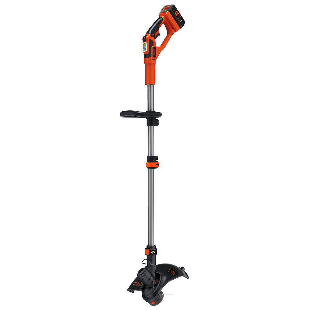 BLACK+DECKER 13-inch 40V MAX Li-Ion Cordless 2-in-1 String Grass Trimmer/Lawn Edger w/ 1.5 Ah Battery and Charger Included