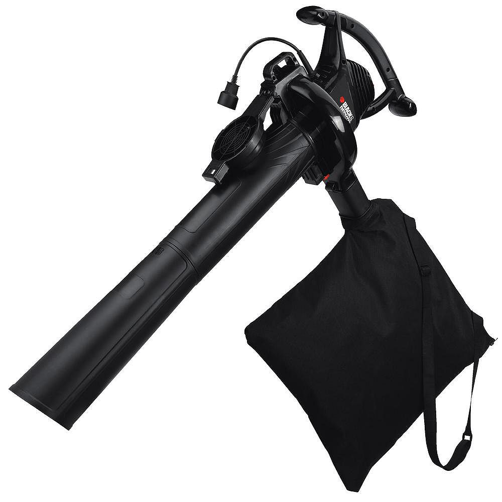 BLACK+DECKER 210 MPH 300 CFM 12 Amp 3-in-1 Corded Electric Handheld Leaf Blower/Vacuum/Mulcher