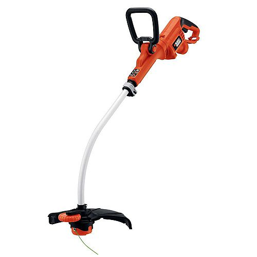 BLACK+DECKER 14-inch 7.5-Amp Corded Electric Curved Shaft High Performance Single Line 2-in-1 String Grass Trimmer/Lawn Edger