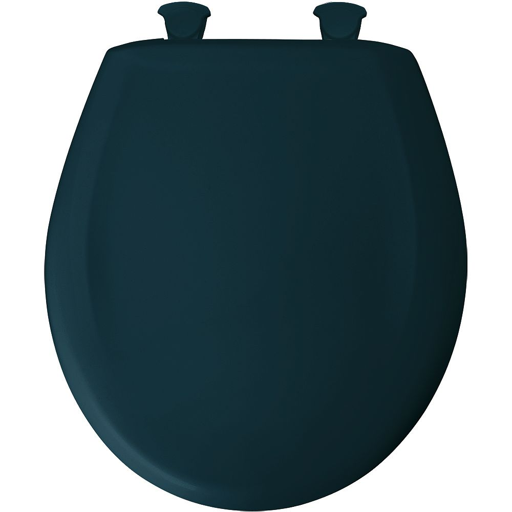 Bemis Round Plastic Toilet Seat with Whisper Close and Easy Clean & Change Hinge in Verde Green