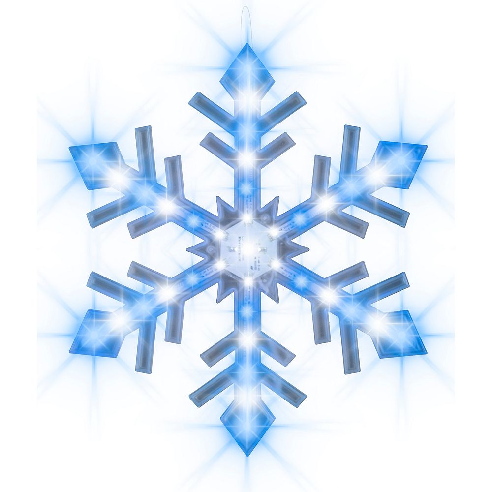 Gemmy Industries Snowflurry Snowflake-Icy Blue/White