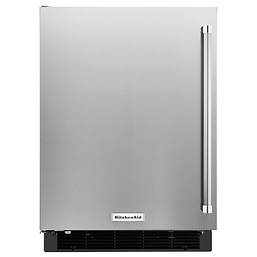 4.9 cu. ft. Panel Ready Undercounter Refrigerator with Stainless Steel Door