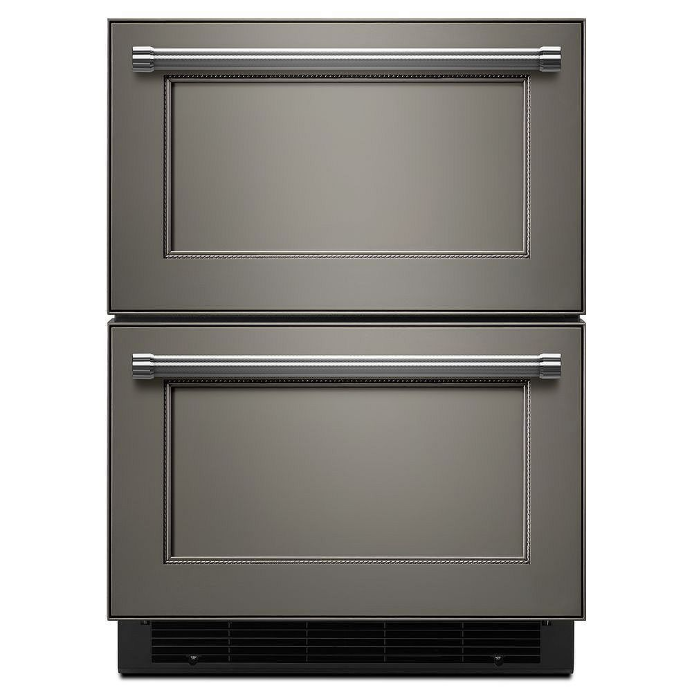 KitchenAid 24-inch W 4.7 cu. ft. Double Drawer Fridge in Panel Ready, Counter Depth