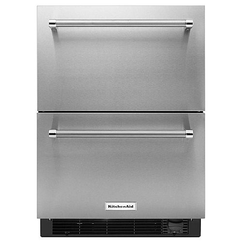 24-Inch Refrigerator with Bottom Freezer Drawer in Panel-Ready Stainless Steel