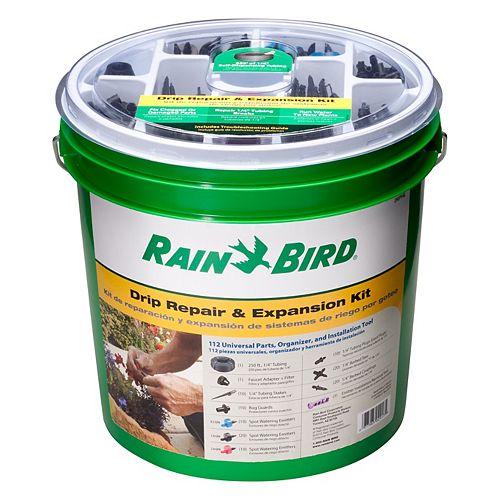 RAIN BIRD Drip Irrigation Repair Kit - Pail