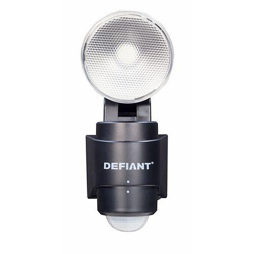 180 Degree 1-Head Black Led Motion Sensing Battery Power Outdoor Flood Light