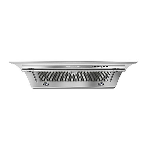 36-inch, 400 CFM Slide-Out Range Hood in Stainless Steel
