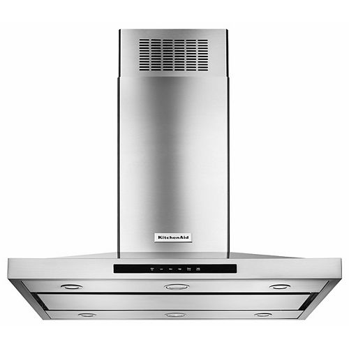36-inch Island Mount Range Hood in Stainless Steel