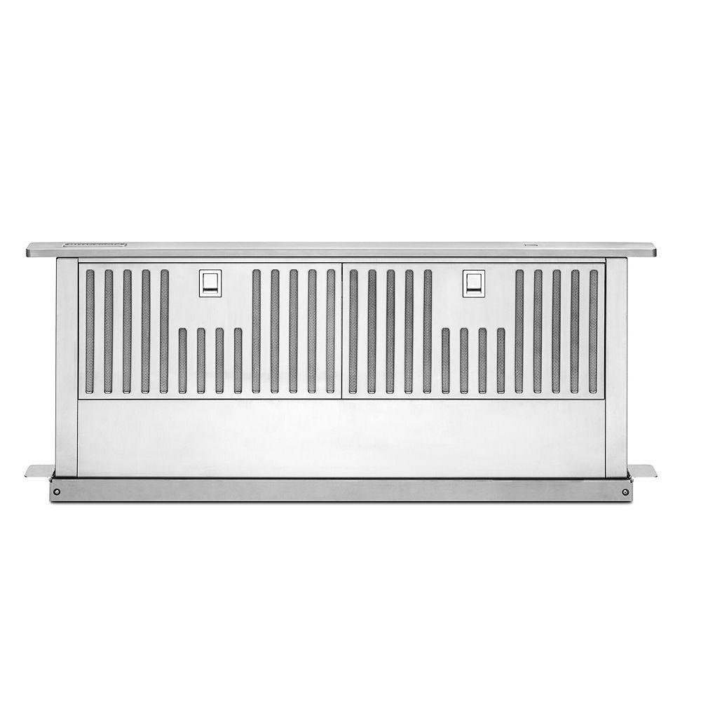 KitchenAid Système d'aspiration rétractable de 36 pouces en acier inoxydable
