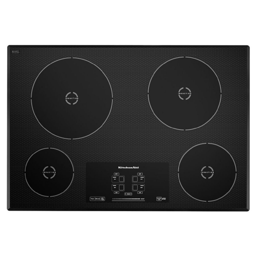 KitchenAid 30-inch Induction Cooktop in Black with 4 Elements
