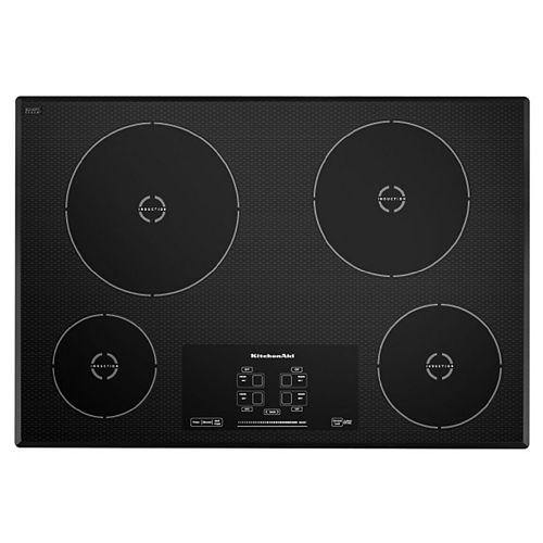 30-inch Induction Cooktop in Black with 4 Elements
