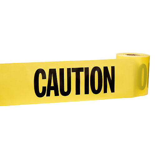 3-inch x 200 ft. Caution Tape in Yellow