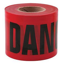 3-inch x 200 ft. Danger Tape in Red