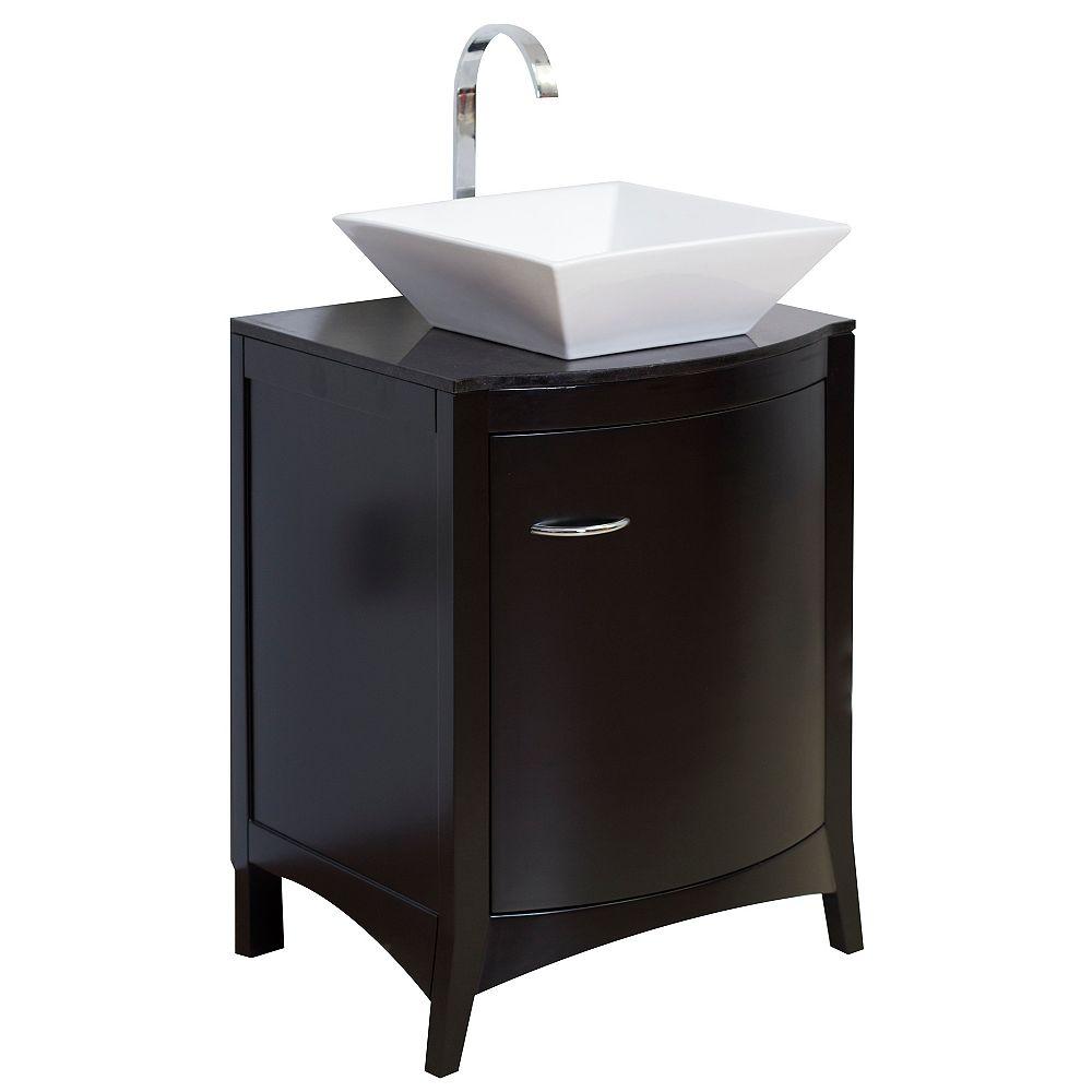 American Imaginations 22-inch W Vanity in Black - AI-2-1172