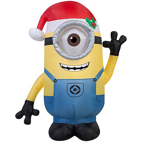 Airblown - Minion Stuart avec chapeau de père Noël