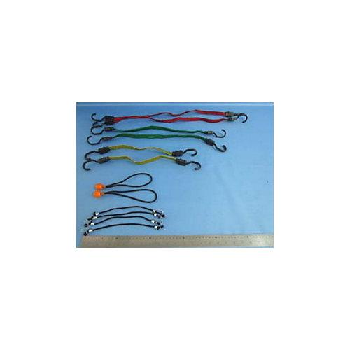 Flat Bungee Assortment (12-Pack)