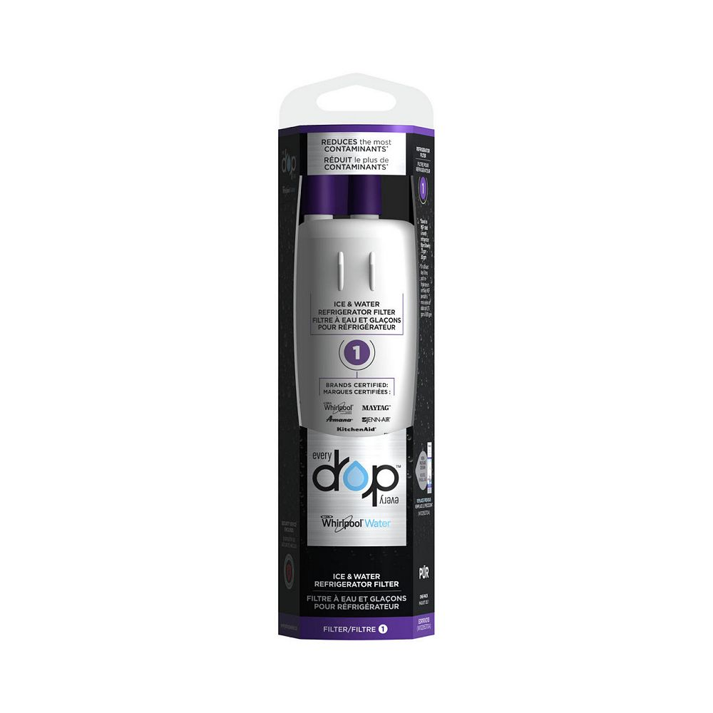 EveryDrop Ice & Water Refrigerator Filter 1 for Whirlpool, Maytag, KitchenAid, Amana